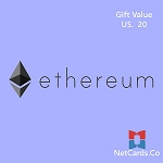 Crypto currency Ethereum   20 USD  value
